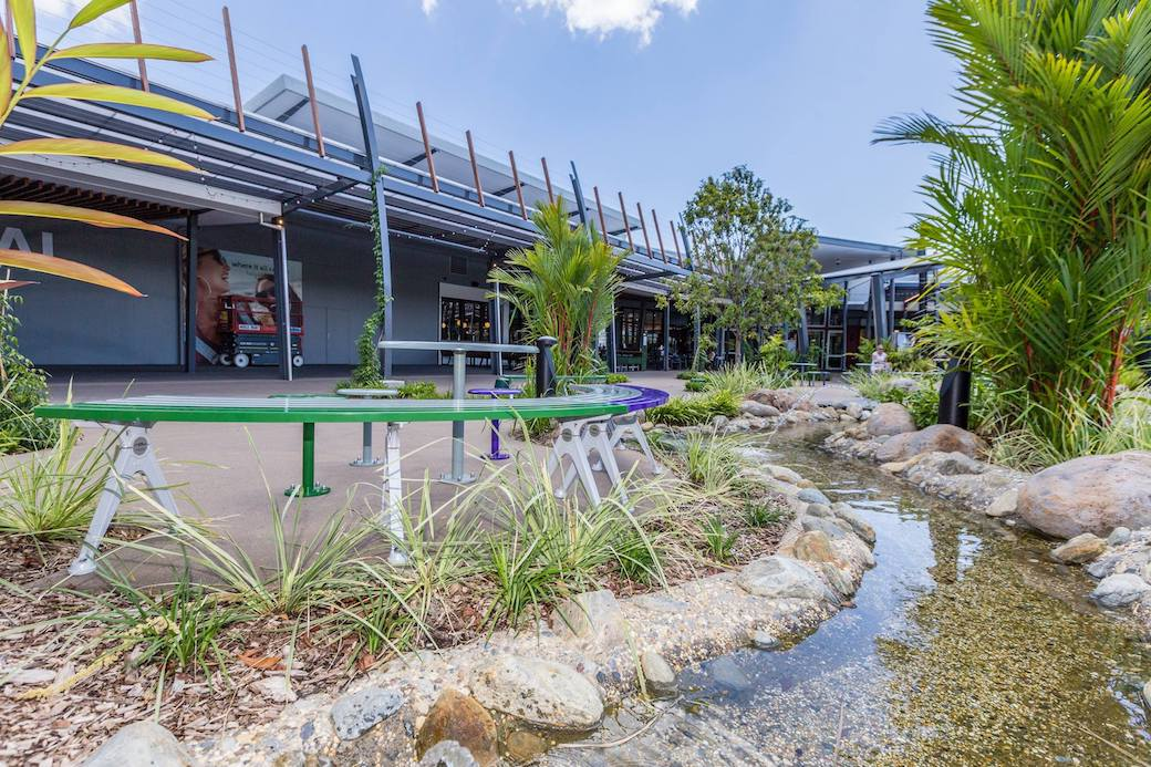 Smithfield Shopping Centre Gardens - Outdoor Solutions Queensland 2