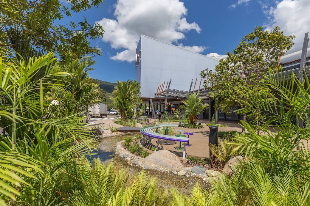Smithfield Shopping Centre Gardens - Outdoor Solutions Queensland 1