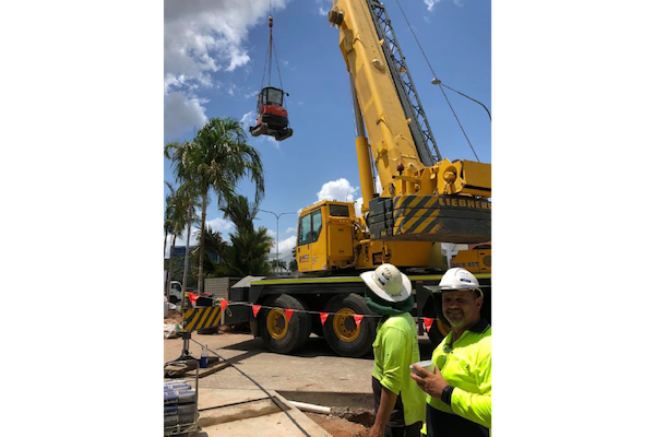 Crystalbrooks-Riley-Hotel-Under-Construction-Crane-Outdoor-Solutions-Queensland-Cairns-Landscaper