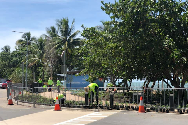 Holloways-Beach-Foreshore-Under-Construction-Outdoor-Solutions-Queensland-Cairns-Landscaping